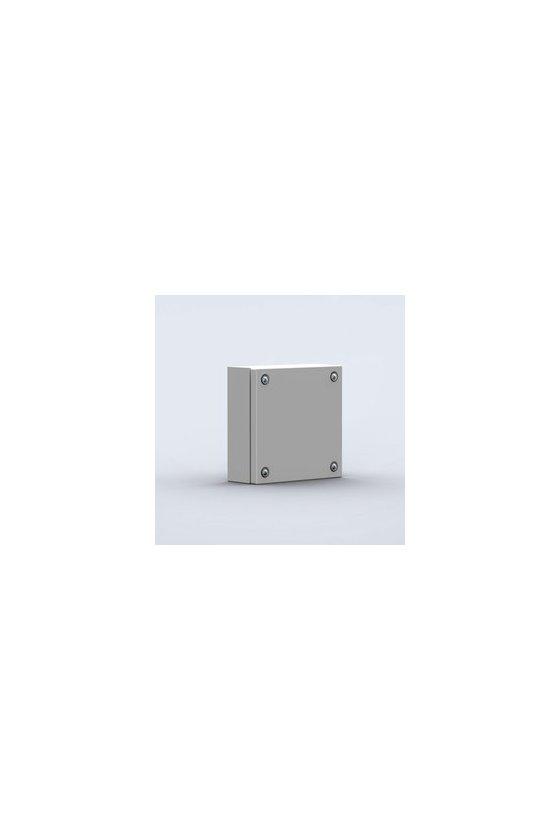 STB151508 Caja de acero para bornas 150x150x80mm IP66/IK10 RAL7035