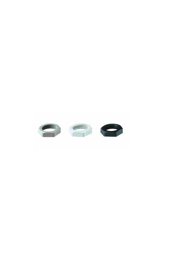 50.232 PA7035 Contratuerca M32 poliamida PA/RAL 7035