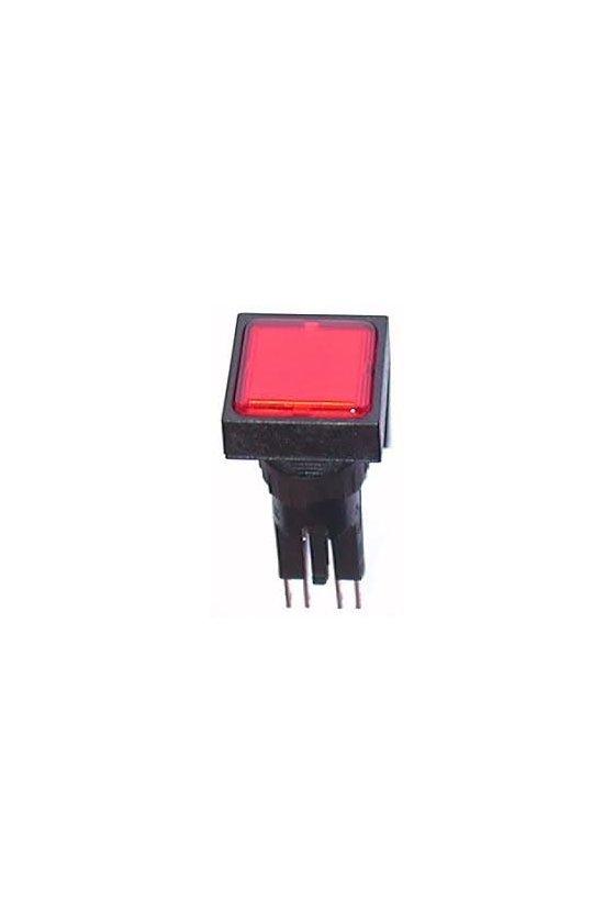 89104 Luz indicadora, enrasada, roja, lámpara de + filamento, 24 V - Q25LF-RT/WB