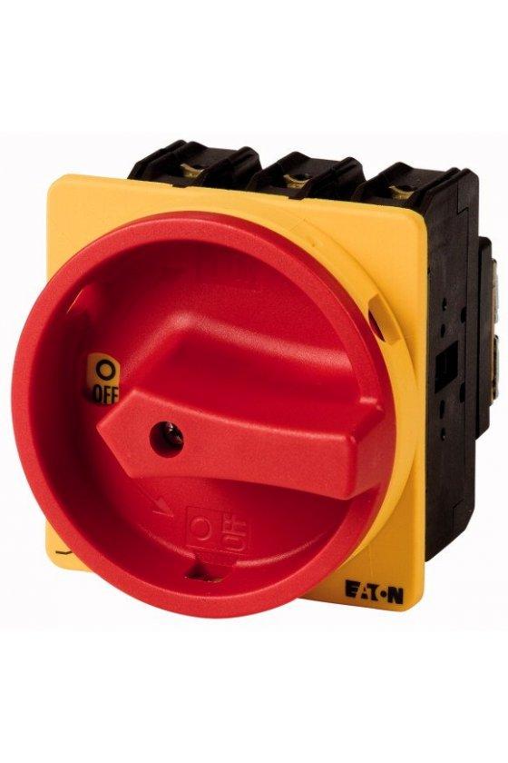 95676 Interruptor principal, P1, 32 A, montaje posterior, 3 polos, función de apagado de emergencia - P1-32/V/SVB