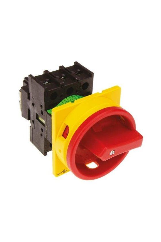 98841 Interruptor principal, T0, 20 A, 2 unidad (es) de contacto, 4 polos, función de apagado de emergencia - T0-2-8324/V/SVB