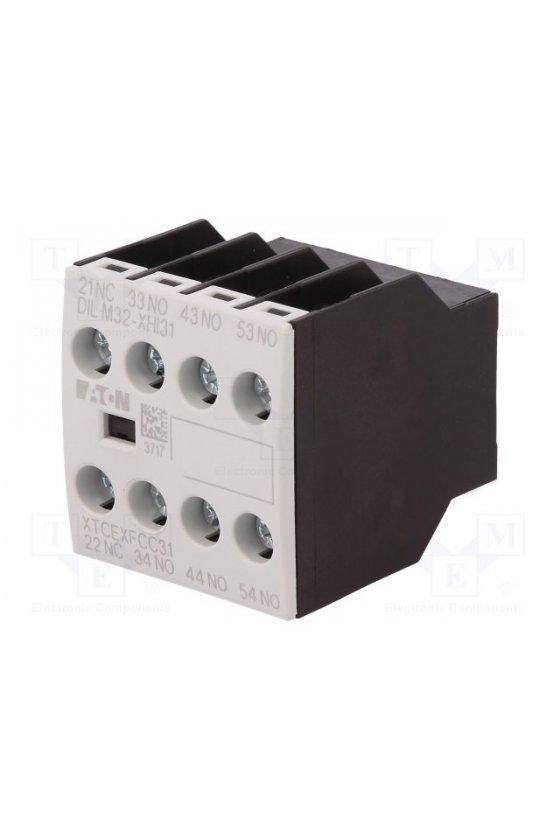 106112 Módulo de contacto auxiliar, tipo: contacto auxiliar de montaje frontal, Ith - 16 A, 3 N / O, 1 NC - DILM32-XHI31