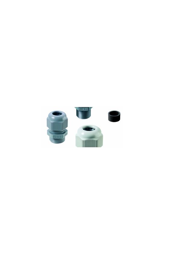 50.007 PA7035 Conector glándula PG 7 poliamida PA/RAL 7035