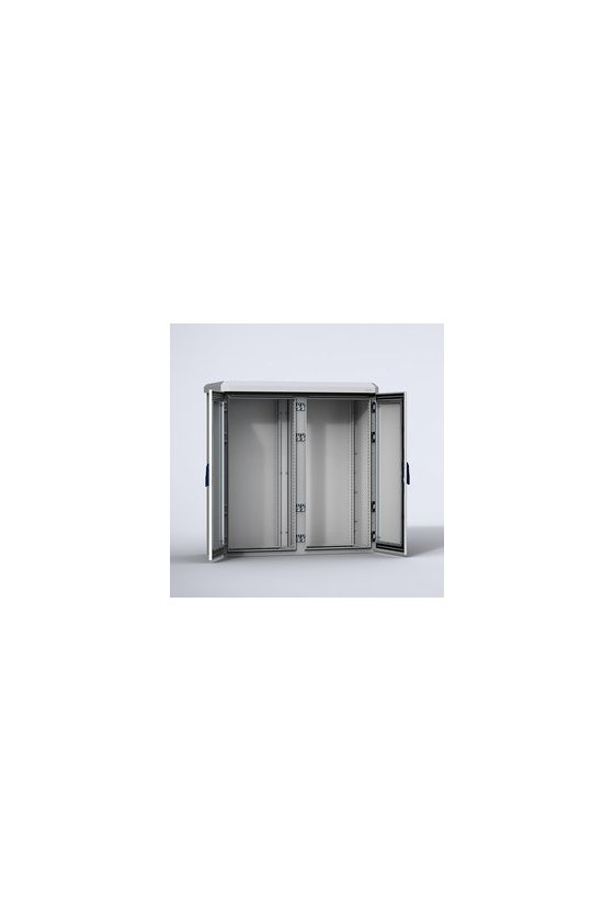 EKOM12124-SW Gabinete de aluminio MultiCOM con tejadillo pared simple 1200x1200x400 puerta doble IP66/NEMA 4X