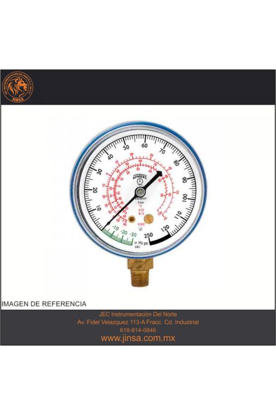 """PFG1732 MANOMETRO MEDIDOR DE REFRIGERACION CARATULA PLASTICO DE 2.5"""" CONECCION POSTERIOR 1/8"""" NPT"""