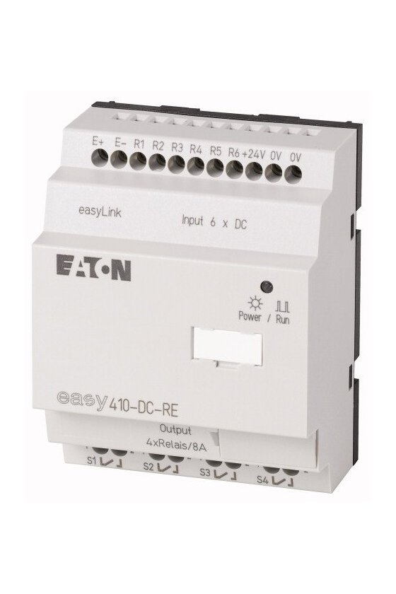 114293 Expansión de E / S, 24 V CC, 6DI, relés 4DO, easyLink - EASY410-DC-RE