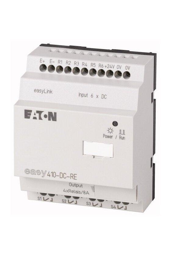 114293 Expansión de E / S, 24 V CC, 6DI, relés 4DO, easyLink - EASY410-DC-RE