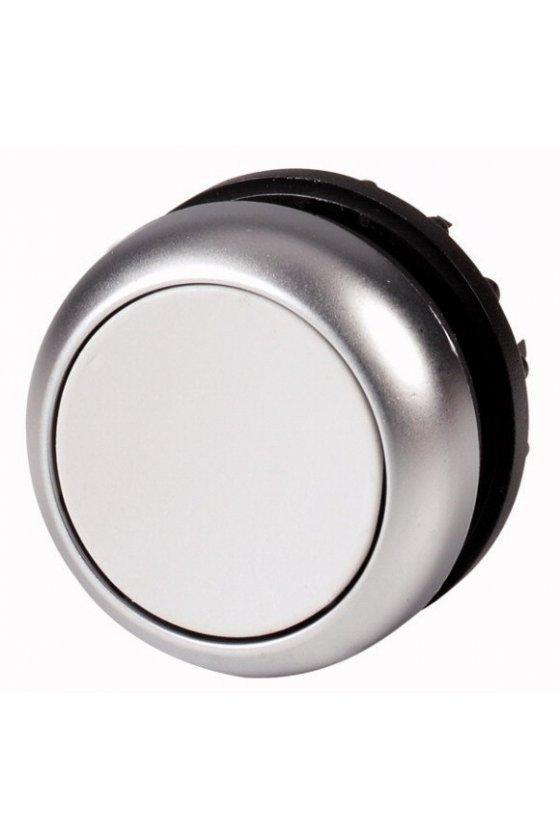 132671 Pulsador, RMQ-Titan, plano, momentáneo, gris, en blanco, bisel: titanio - M22-D-GR