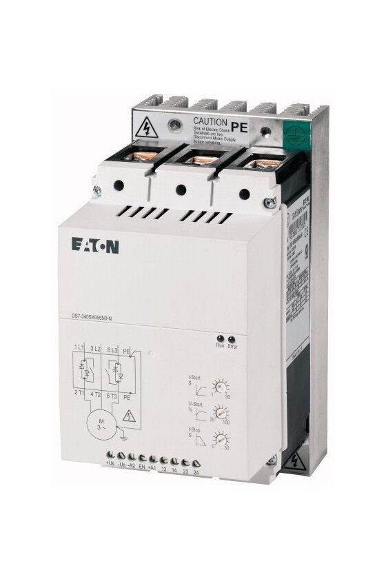 134925 Arrancador suave, 4 A, 200 - 480 V CA, Us - 110 - 230 V CA, Tamaño de bastidor FS1 - DS7-342SX004N0-N