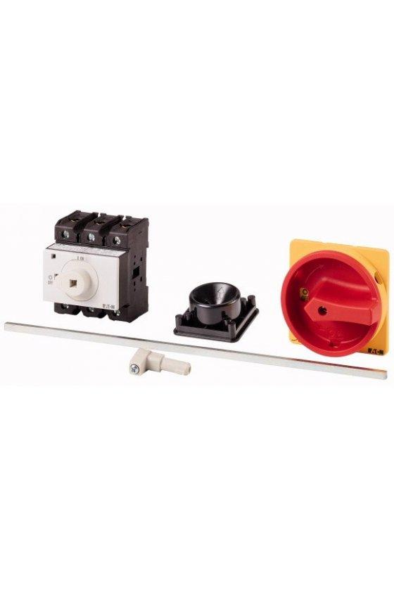172875 Interruptor principal, P1, 25 A, montaje posterior, 3 polos, función de apagado de emergencia - P1-25/M4/SVB