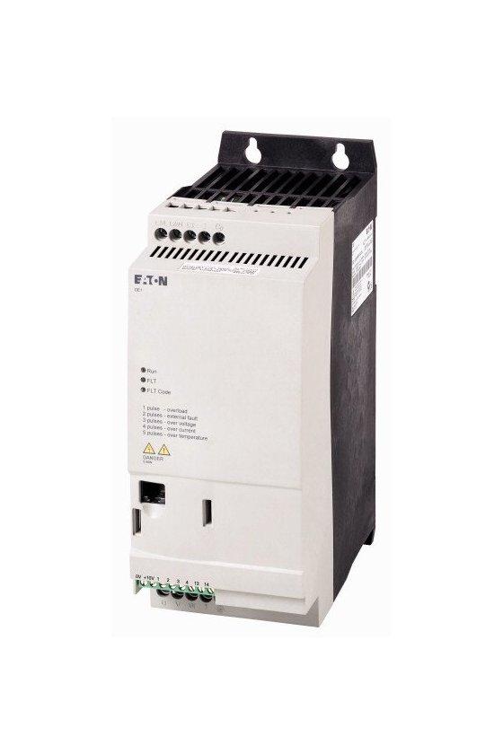 177364 Arrancador de velocidad variable, voltaje de funcionamiento nominal 230 V CA - DE1-129D6NN-N20N