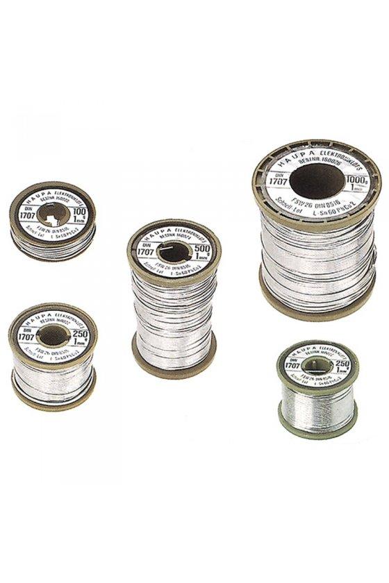 160020 Soldadura para electrónica Sn 60% 1 mm 100 g