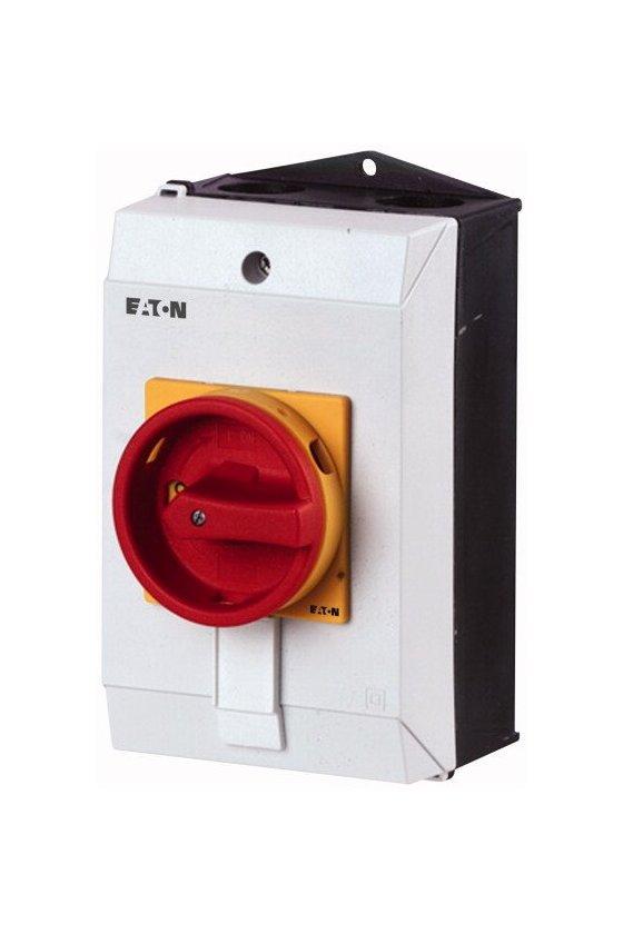 207163 Interruptor principal, T0, 20 A, montaje en superficie, función de apagado de emergencia - T0-4-8344/I1/SVB