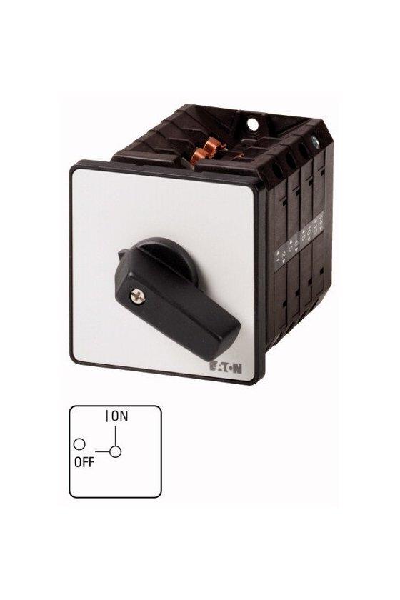 207412 Interruptor de encendido y apagado, 6 polos + 1 N / O + 1 N / C, 100 A, 90 °, montaje empotrado - T5-4-15682/E