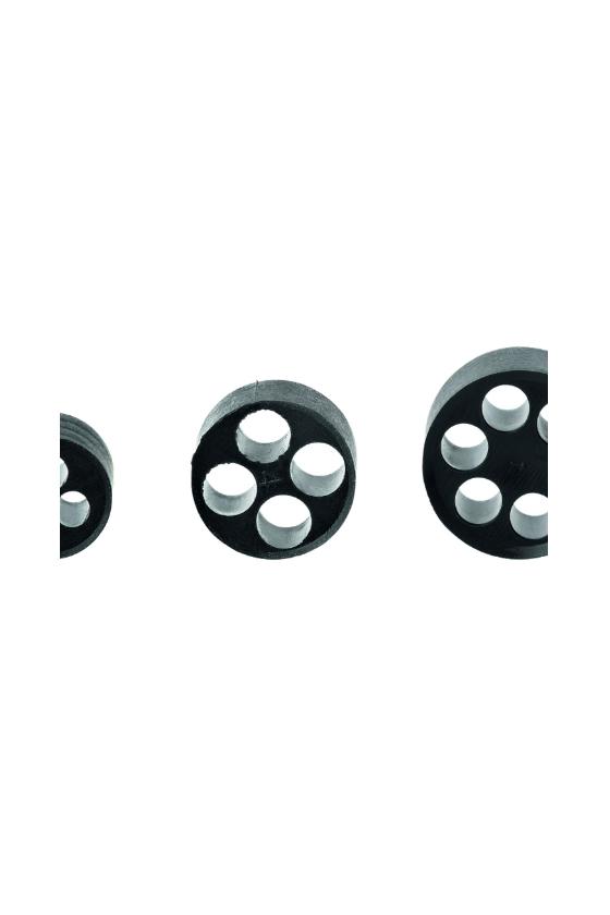 WJ-DM 25/4x6 Inserto de goma para glándula M25, 4 perforaciones de 6mm (100 piezas)