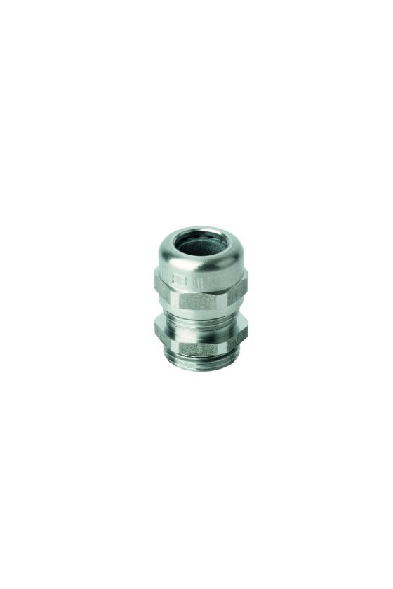 50.616 ES Conector glándula M16 de acero inoxidable IP68