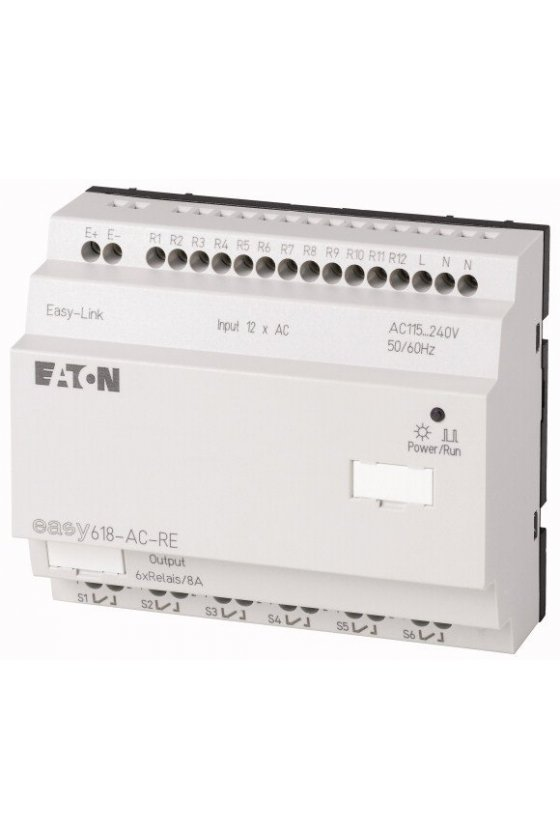 212314 Expansión de E / S, 240 VCA, 12DI, relés 6DO, easyLink - EASY618-AC-RE