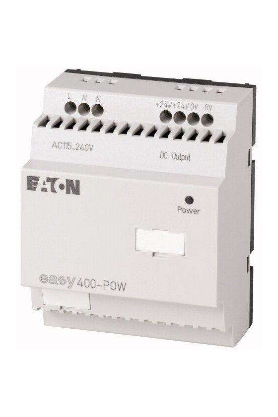 212319 Unidad de fuente de alimentación de modo conmutado, 100-240VAC / 24VDC, 1.25A, monofásica, controlada - EASY400-POW