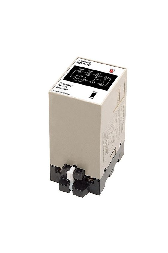 HPANC7 Amplificador riel din. PNP-NPN 2 entradas 1 salida a relevador  1NA+NC  3Amp 240v y salida transistor alim. 100-240vca