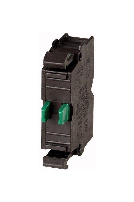 216384 Elemento de contacto, 1N / O, montaje frontal, 6. contacto, conexión de abrazadera de resorte - M22-CK10