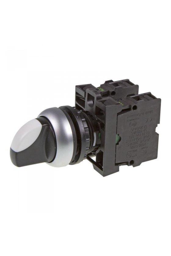 216520 Interruptor de cambio, RMQ-Titan, con empuñadura, mantenido, 3 posiciones, 2 N / O, bisel: titanio - M22-WRK3/K20