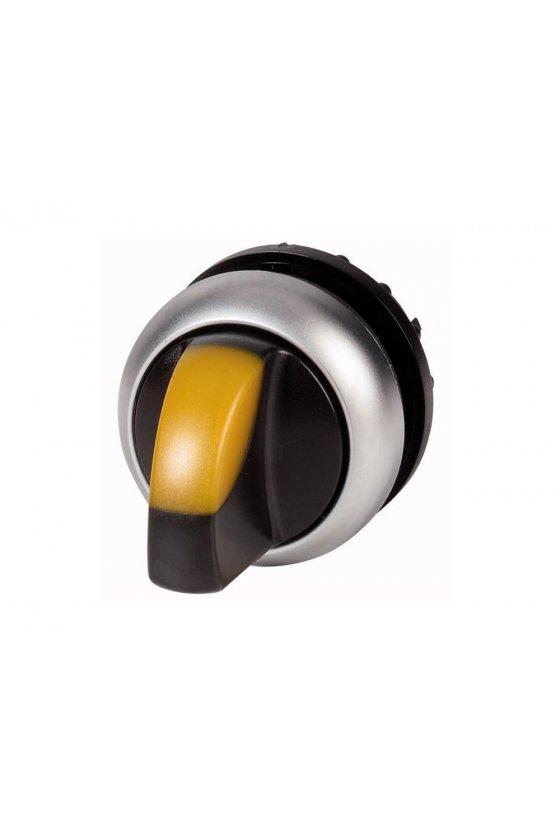 216829 Actuador de interruptor selector iluminado, RMQ-Titan, Con empuñadura, mantenido, 2 posiciones - M22-WRLK-Y