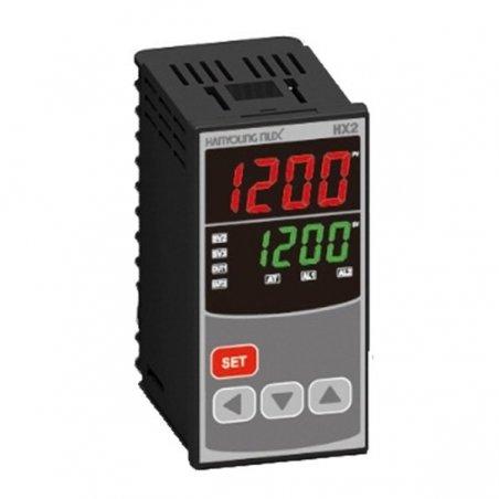 HX201 Control de temperatura digital 1/8 Din  48x96mm entrada multi-input , salidas  SSR + Rele + RS