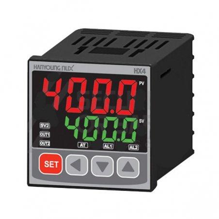 HX400 Control de temperatura digital 1/16 Din 48 x48mm  entrada multi-input , salida SSR + Rele+ 2 A