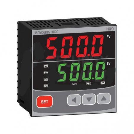 HX901 Control de temperatura digital  1/4 Din  96x96mm  entrada multi-input , salida SSR + Rele + 2