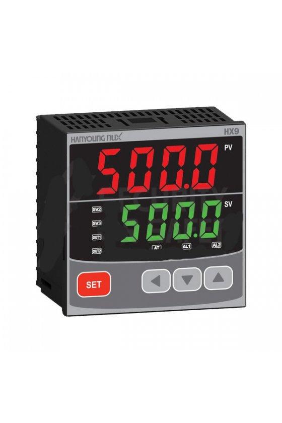 HX911 Control de temperatura digital  1/4 Din  96x96mm  entrada multi-input , salida SSR + Rele + 4-