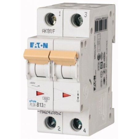 242878 Disyuntor en miniatura (MCB), 13A, 2p, característica tipo C- PLS6-C13/2-MW