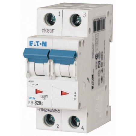 242881 Disyuntor en miniatura (MCB), 20A, 2p, característica tipo C - PLS6-C20/2-MW