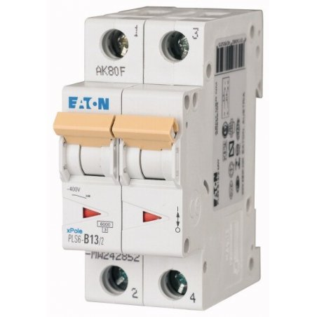 242882 Disyuntor en miniatura (MCB), 25A, 2p, característica tipo C - PLS6-C25/2-MW
