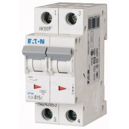 242883 Disyuntor en miniatura (MCB), 32A, 2p, característica tipo C - PLS6-C32/2-MW