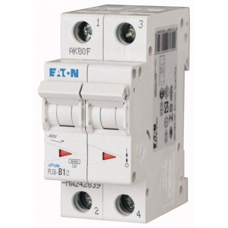 242885 Disyuntor en miniatura (MCB), 50A, 2p, característica tipo C - PLS6-C50/2-MW