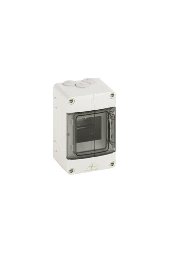 73640301 Caja de distribución de Policarbonato 100x150x96mm 3 módulos in/out IP65 AKi 03