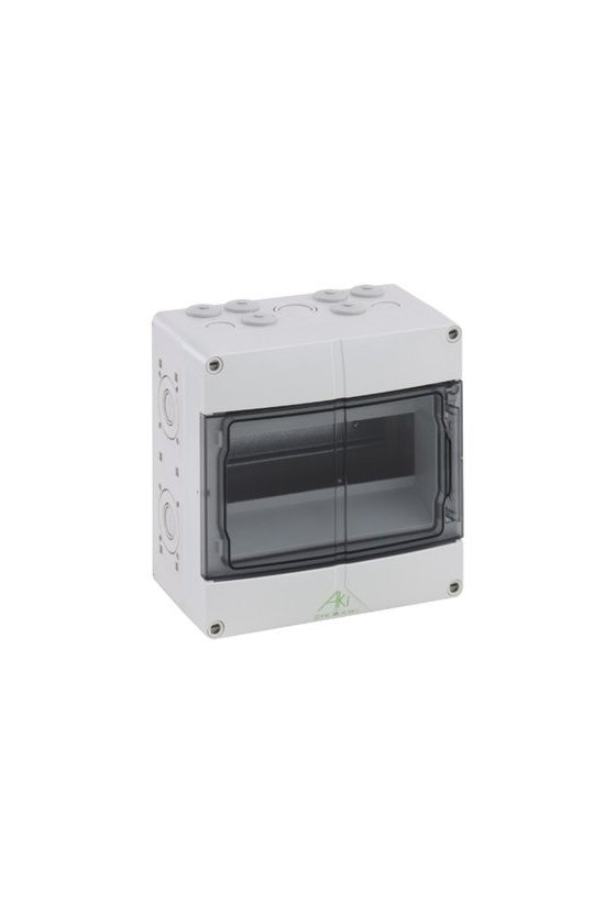73640901 Caja de distribución de Policarbonato 200x200x122mm 9 polos in/out IP65 AKi 09