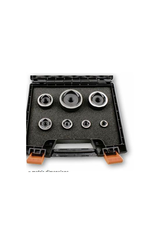 01291 Set de punzones métricos M16/M20/M25/M32/M40/M50/M63