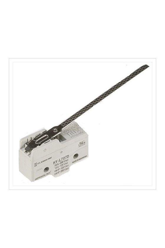 Micro Switch básico con palanca 100mm 1NA+1NC 10amp 250vca HY-L707D