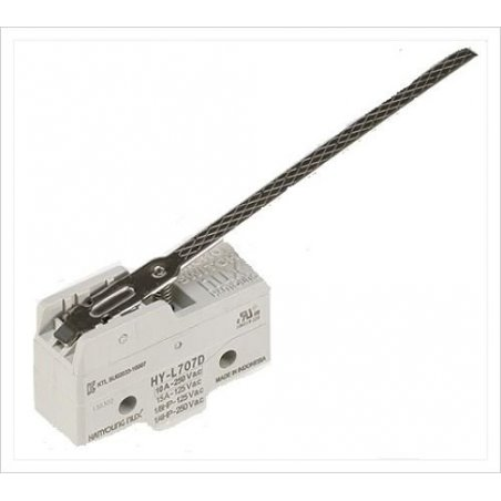 HYL707D Micro Switch básico con palanca 100mm 1NA+1NC 10amp 250vca