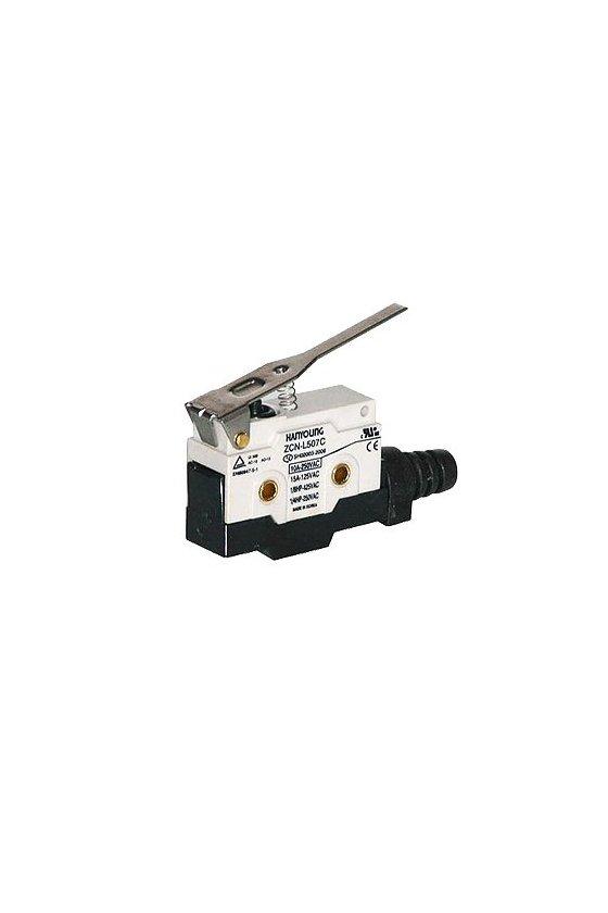 ZCN-L507C Micro Switch sellado con brazo de palanca mediana  1NA+1NC 10amp 250vca