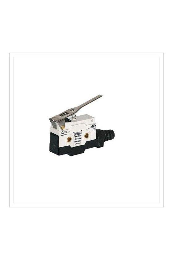 ZCN-L507D Micro Switch sellado con brazo de palanca  larga  1NA+1NC 10amp 250vca