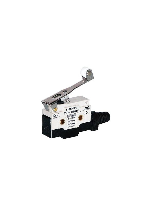 ZCN-R504C Micro Switch sellado con brazo y rodillo largo 1NA+1NC 10amp 250vca