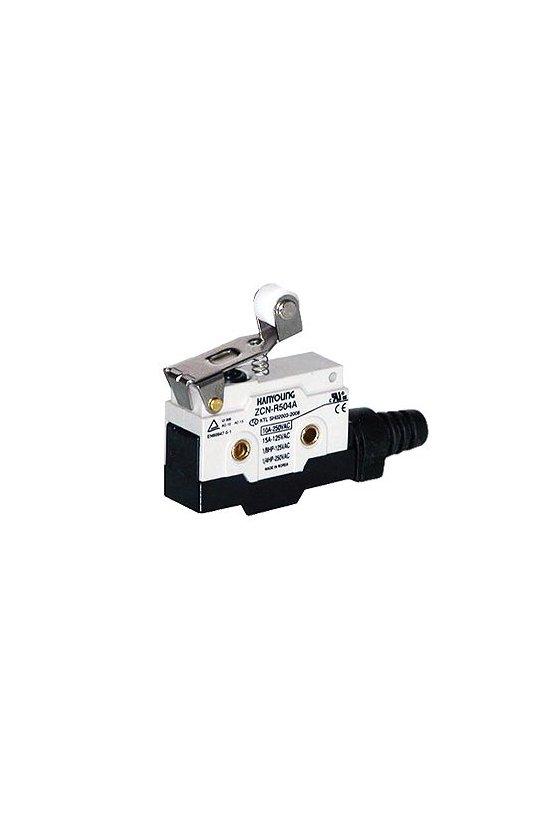 Micro Switch sellado con brazo y rodillo corto 1NA+1NC 10amp 250vca ZCN-R504A