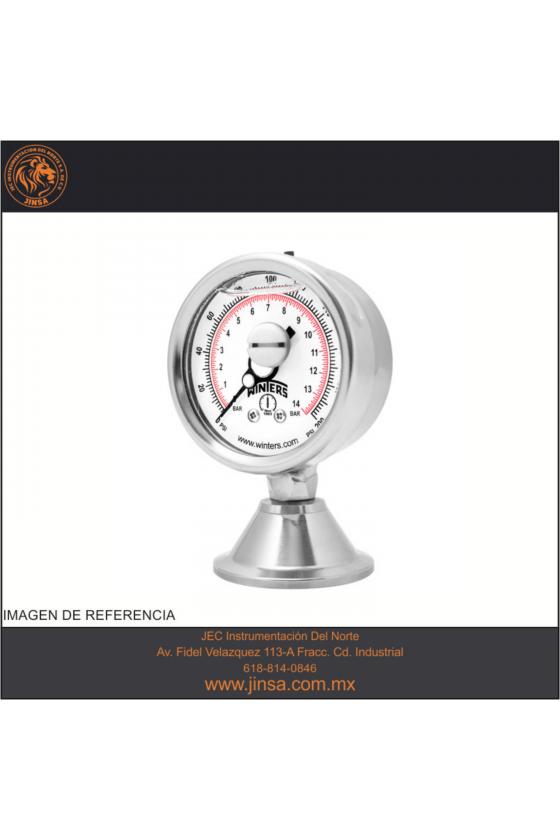 """PAG15605B MANOMETRO MEDIDOR DE PRESION SANITARIA CARATULA DE 4"""" CONECCION INFERIOR 1.5"""" NPT"""