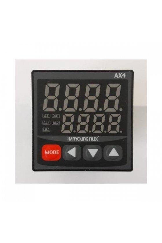 AX44A Control de temperatura digital 1/16 Din  48x48mm  entrada  J, K, pt100 , salida  4 -20mA  AX4-4A