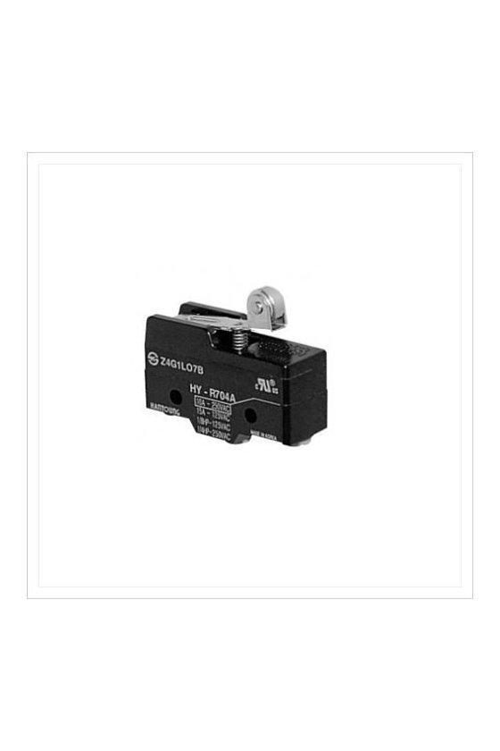 Micro Switch básico con palanca corta y rodillo 1NA+1NC 10amp 250vca