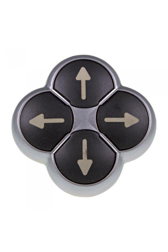 286336 Botón de posición, RMQ-Titan, Actuadores no enrasados, momentáneos, negros, 4 veces - M22-D4-S-X7
