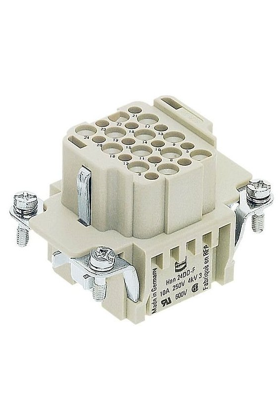CDDF 24 - Bloques de conexion hembra 24 Polos