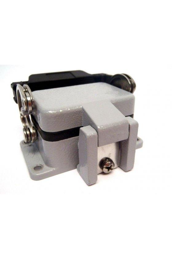 CHI 10 LS - Base empotrable de metal para 10 Pines cierre simple con tapa IP65
